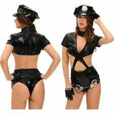 Police Woman Sexy Cop Halloween Costume Dress Cops & Robbers Stage & Dance Wear