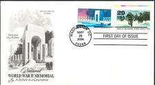 WWII MEMORIAL Stamp 3862 Normandy D-Day Invasion Combination First Day Cover FDC