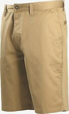 NEW VOLCOM solid dk tan khaki shorts Frickin Chino relaxed fit 30 31 32 33 34 36