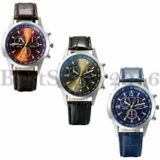 Fashion Classic Leather Band Mens Womens Quartz Analog Sport Wrist Watch Gifts