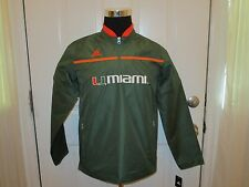 Brand New w/Tags Miami Hurricanes Youth Sizes Green Amped 1/4 Zip Jacket