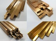 CZ121 Brass, Metal Round, Square, Flat Bar, Rod & Angle 100mm to 600mm long