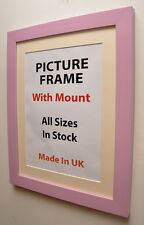 Lilac Picture Photo Frame with Mount,Choice of Ivory,Black or White Mount