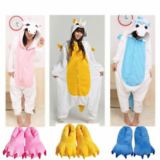 Adult Kid Pajamas Kigurumi Cosplay Animal Costume Onesie Sleepwear@3Unicorn Hot