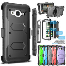 Belt Clip Holster Stand Case W/Built-in Screen Protector for Samsung Galaxy On5
