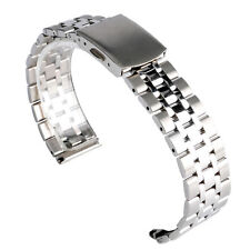 Men Women 16mm 18mm 20mm Solid Stainless Steel Wrist Watch Band Strap Pin Buckle