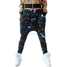 Cool Women Men Galaxy Print Hip Hop Harem Pants Dance Jogger Baggy Trousers