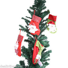 20pcs Christmas Stocking Decoration Hanging Gift Bag Ornaments Party Decor