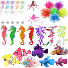 Marine Aquarium Fish Tank Landscaping Decoration Animal Plant Plastic Ornament