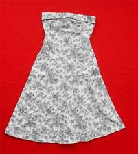 JUST CHOON ~ Strapless Black & White Floral Dress ~ Juniors Size 3 ~ Sexy