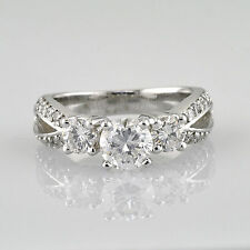 VS1 2.22 Carat total Round Cut Prong set Diamond Engagement Ring Antique Style