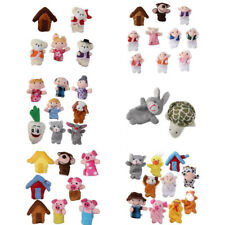 Soft Family Finger Puppets Doll Baby Educational Hand Toy Story Kids Party Gift
