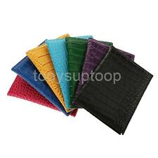 TRAVEL PASSPORT COVER HOLDER WALLET ID PROTECTOR PU LEATHER ALLIGATOR EMBOSSING