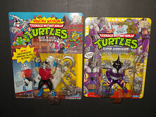 1991 TMNT Lot- SUPER SHREDDER + Wacky Action MOC PLAYMATES Ninja Turtles Vintage