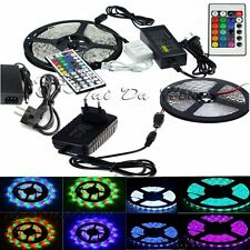 5M SMD 3528 5050 5630 300LEDs RGB White LED Strip Light 12V DC Power Supply