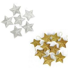 6Pcs Christmas Glitter Star Xmas Tree Hanging Ornament Holiday Party Home Decor