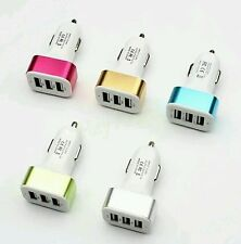Triple Universal USB Car Charger 3 Port Car-charger Adapter Socket 2A 2.1A 1A Ca