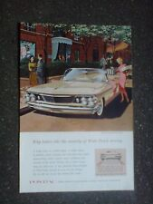 1960 glossy advert, the pontiac car,measures 10x6.5 inches