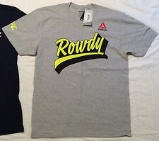 Men's Reebok UFC ROWDY RONDA ROUSEY T-Shirt LIFE is a FIGHT Quote M L XL 2XL NWT