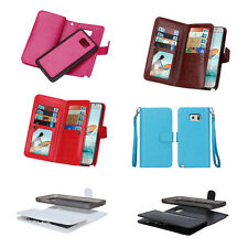 VariousMagnetic Filp Leather Cell Phone Cover Case Wallet Purse Card Cash Holder