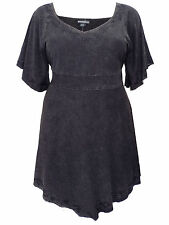 Womens plus size 26 28 30  TOP BLACK LONGER LTH MEDIEVAL STYLE TUNIC