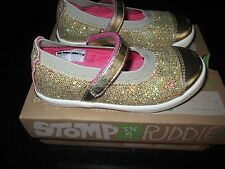 Morgan & Milo Girls Siena  Mary Jane Gold   Multiple Sizes  NEW
