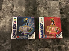 Legend of Zelda: Oracle of Ages and Oracle of Seasons Game Boy Color CIB Box GBC