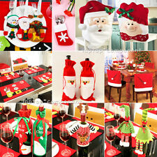 Christmas Santa Elf Candy Gift Bag Chair Cover Holder Xmas Table Decoration Toy