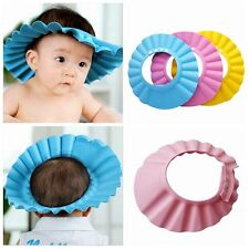 Baby Kids Children Bathing Hat Shampoo Shower Cap Wash Bath Hair Shield Soft t88