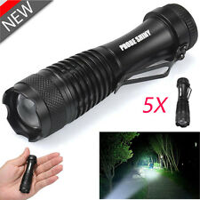 5PC CREE Q5 LED 14500 3000lm 3 Mode ZOOM MINI Police Torch Bright Flashlight Lot