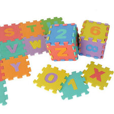Alphabet/Number Foam Exercise Floor Kids Puzzle Baby Play Mat Flooring Tile Game