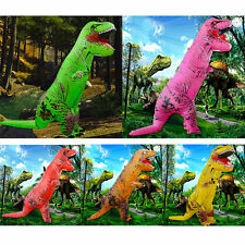 Adult Kid Colorful Inflatable Dinosaur Costume T rex Cosplay Outfit Party Dress