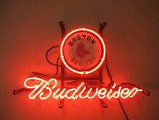 BOSTON RED SOX BUDWEISER BEER NEON SIGN FOR MAN CAVE