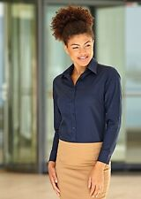 Fruit of the Loom Womens Lady-Fit Oxford Long Sleeve Shirt Work FOTL