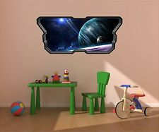 Spaceship Window STARS & PLANETS #2 SPACE Wall Sticker Kids Room Decal Graphic