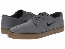 Nike Clutch GS Boys Skate Casual Shoes Size Youth 4 5 Gray Black Brown Canvas