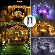 New 100 LED 10 Bulb Shape Copper Wire DC/Battery String Lights Xmas Party Decors