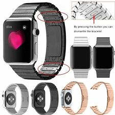 Stainless Steel Butterfly Lock Link Bracelet Strap Band for Apple Watch 2&1 #GB