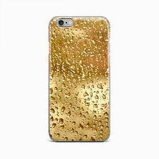 Gold Rain Drop New Hard Case Cover For Apple iPhone 4 4S 5 5S 5c SE 6 6S 7 Plus