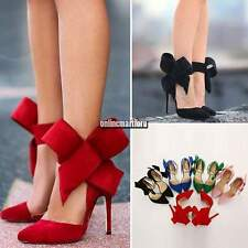WOMEN LADIES STRAPPY STILETTO HIGH HEEL SANDALS ANKLE STRAP CUFF PEEP TOE SHOES