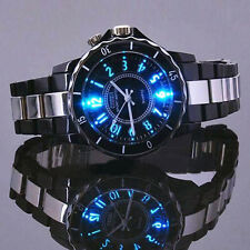 Fashion Ohsen Colorful LED Light Waterproof Men Ladies White Watch Xmas Gift New