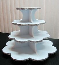 Cupcake Stand, Rhinestone Mesh Petal shape, 3 or 4 Tier, holds up to 80 cupcakes