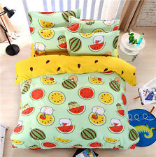 Single Double Queen King Size Bed Set Pillowcase Quilt Duvet Cover Bedding