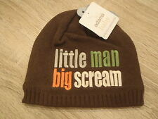 Branded Baby Knitted Beanie Hat - Little Man Big Scream Age 6-12 months