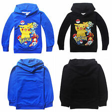 Pokemon Go Tops Kids Girls Boys Hoodie Sweatshirt Hooded Jacket Coat Outerwear