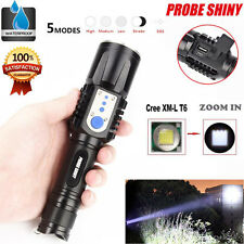 Tactical Flashlight 3000LM 5 Mode Zoomable Focus CREE XM-L T6 LED 26650 Torch