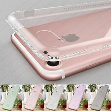 New Luxury Crystal Clear Bling Rhinestones Soft Rubber Case For iPhone 7 Plus 7
