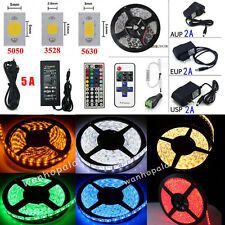 5M 300LED SMD 3528/5050/5630 Home Xmas Flexible Strip Lights+Remote+Power Supply