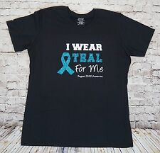 I Wear Teal For SUPPORT PCOS Women T Shirt Tee Ladies Custom Personalized SM-4XL