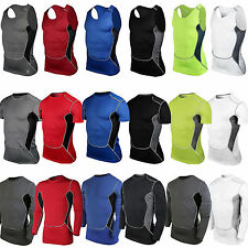 Mens Compression Shirts Under Base Layer Armour Gear Tank Top Jogger Skins Tops